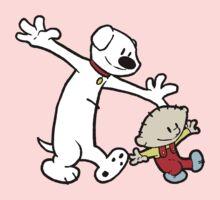 Stewie and Brian (C & H) One Piece - Short Sleeve