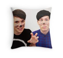 Dan and Phil (Whiskers) Throw Pillow