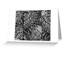 Ethnic Doodle - Zentangle Greeting Card