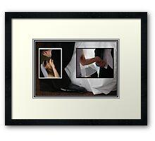 Black and White Frames Framed Print