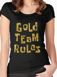 Gold Team Rules Women's Fitted Scoop T-Shirt