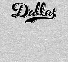 Brush Script Dallas, Texas Zipped Hoodie