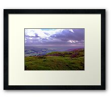 The View from Bank Top - Rosedale Framed Print