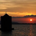 Sunset Mill silhouette in Tuscany by Francesco Malpensi