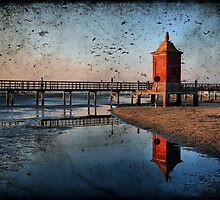 Seacsape, textured Lighthouse and reflections by Francesco Malpensi