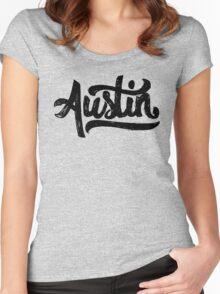 Brush Script Austin, Texas Women's Fitted Scoop T-Shirt