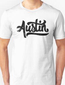 Brush Script Austin, Texas Unisex T-Shirt