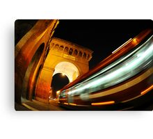 Cityscape City Bus speed transport Canvas Print