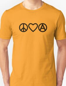 Peace Love Anarchy Unisex T-Shirt