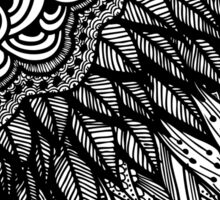 Ethnic Doodle - Zentangle Sticker