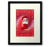 Cute Christmas Card Framed Print
