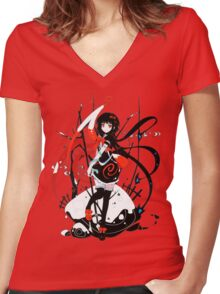 Touhou - Nue Houjuu Women's Fitted V-Neck T-Shirt
