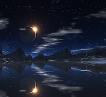 Eclipse at Lake Trasson. by AlienVisitor