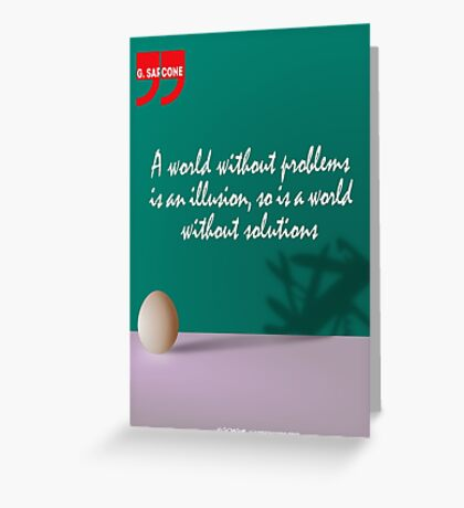 A World Without... (Quotation) Greeting Card