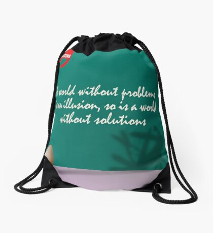 A World Without... (Quotation) Drawstring Bag