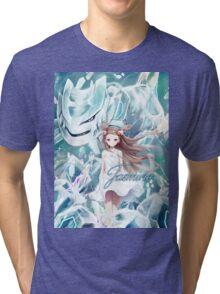 Pokemon - Jasmine - Steelix Tri-blend T-Shirt