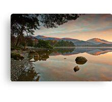Dawn sunlight on Blencathra summit Canvas Print