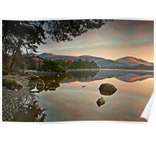 Dawn sunlight on Blencathra summit Poster