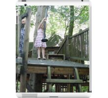 off she goes on the zip wire iPad Case/Skin
