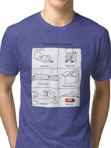 Cats you know (and love) / Cat doodles Tri-blend T-Shirt