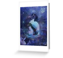 Exotic Penguins in Tuxedos Greeting Card
