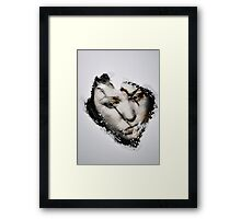 photo liquid on wax Framed Print
