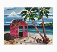 Pink CoCoNut Hut One Piece - Short Sleeve