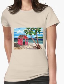Pink CoCoNut Hut Womens Fitted T-Shirt