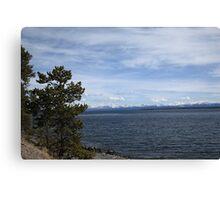 Yellowstone Lake and Mountains Canvas Print