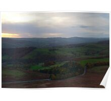 Sunset, Stanage Edge.  Poster