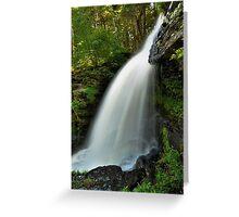 Fulmer Falls In Summer Greeting Card
