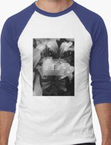 the 1975 - me lyrics flowers theme Men's Baseball ¾ T-Shirt