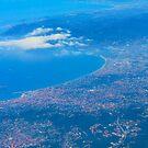 Areal view on Azure coast in Nice, France by Atanas Bozhikov NASKO