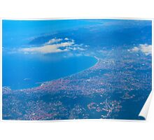 Areal view on Azure coast in Nice, France Poster