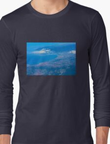 Areal view on Azure coast in Nice, France Long Sleeve T-Shirt