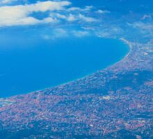 Areal view on Azure coast in Nice, France Sticker