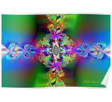 RAINBOW FLOWER CROSS Poster