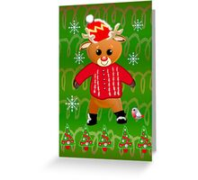 Baby reindeer Christmas card Greeting Card