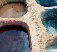 Colour Pools: Fes Tanneries by Skye Hohmann