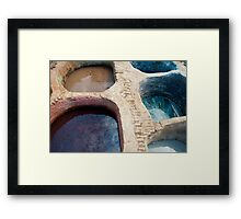 Colour Pools: Fes Tanneries Framed Print