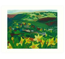 How green is my valley Art Print
