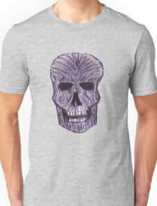 Purple Blur Skull Unisex T-Shirt