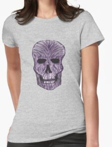 Purple Blur Skull Womens Fitted T-Shirt