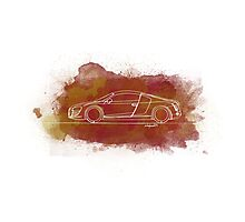 Audi R8 - Single Line Photographic Print