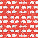 White elephants pattern by Tanor