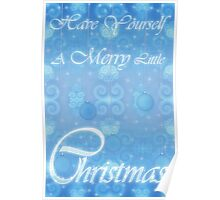 A Merry Little Christmas Card Poster
