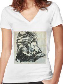 Jamiroquai.  Women's Fitted V-Neck T-Shirt
