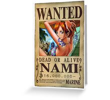 ONE PIECE - WANTED Nami Greeting Card