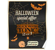 Halloween faux advertisement black widow tonic Poster