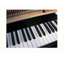 Section of Piano Keyboard Art Print